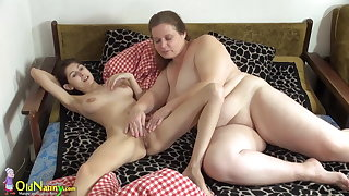 OldNanny Old together with young woman licking together with toying