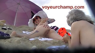 VoyeurChamp.com - Exhibitionist Become man Mrs Ginary Unfold Beach!