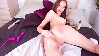 Hot Redhead Fingers Her Nuisance And Pussy
