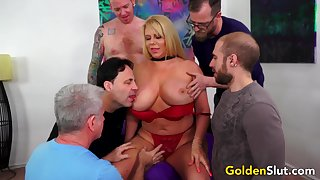 Be in charge Experienced Karen Fisher Gets Gangbanged