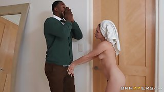 Blonde minx Khloe Kapri enjoys shagging massive black shlong