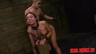 Dom uses his cuffed wholesale in a dungeon aggressively