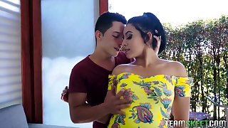 Colombian harlot Annette Rios is picked at hand together with fucked by esurient hot blooded dude